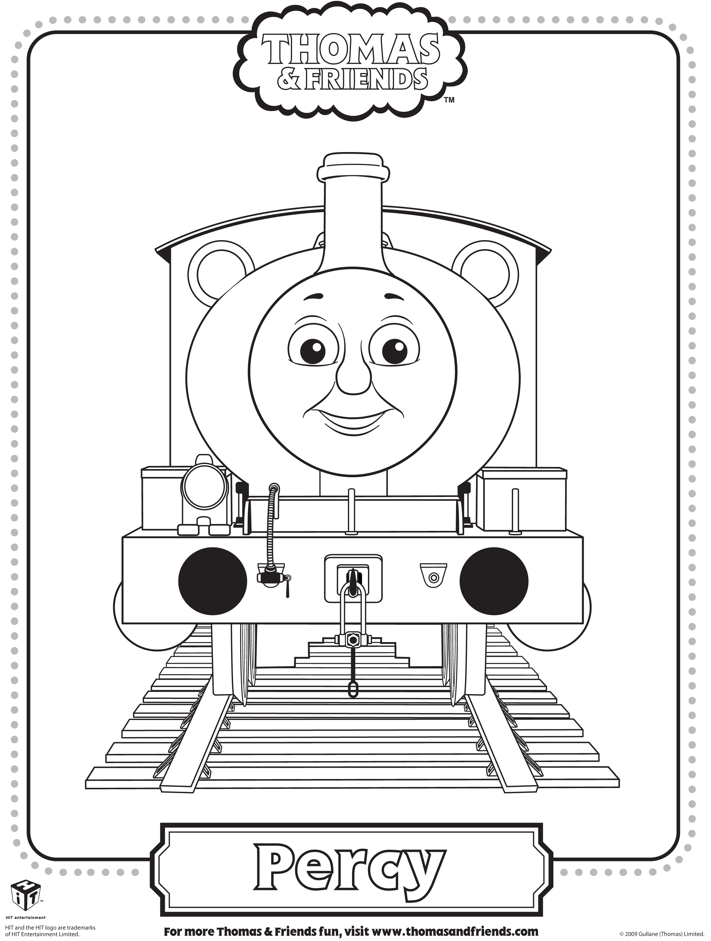 Thomas the tank engine ride on thomas free engine image for Percy the train coloring pages
