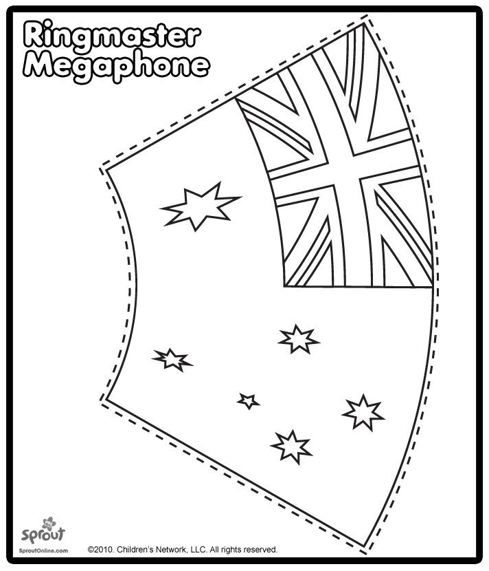 Megaphone Template Craft