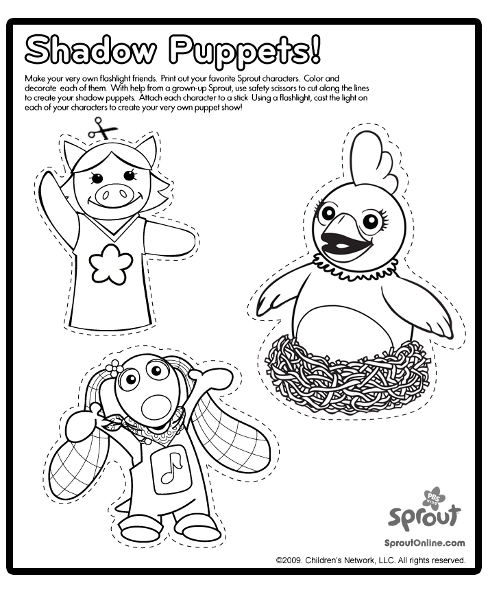 sprout character coloring pages - photo#9